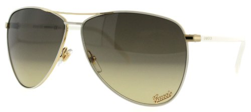 Gucci GG4209 White Aviator Unisex Sunglasses (Sunglasses White Gucci Aviator)