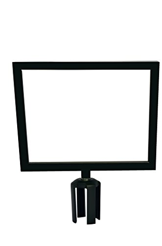 Tensabarrier FRAME-HDSC-33-1114HD-H Frame with Heavy Duty Horizontal Sign Cone, 11'' x 14'', Black by Tensabarrier (Image #1)