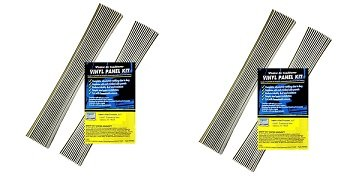 AC Safe Air Conditioning Window Unit Replacement Vinyl Accordian Side Panel Kit (2-Pack)