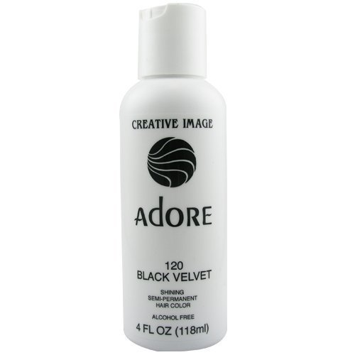 Adore Semi Permanent Hair Color - #120 Black Velvet 4 oz. by Adore (Best Color Rinse For Black Hair)