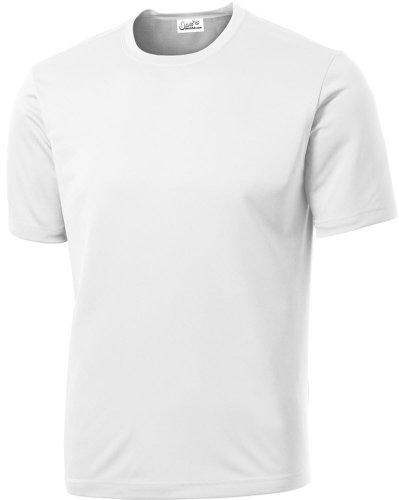 Joe's USA Men's Athletic All Sport Training T-Shirt ,White ,Medium (Mens Shirt Athletic)