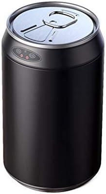 キッチンゴミ箱 蓋付きのクリエイティブデザインのゴミ箱家庭用ステンレス鋼スマートセンサ古紙バスケット、ブラック6L、9L、12L ごみ収集 (サイズ : 12L)