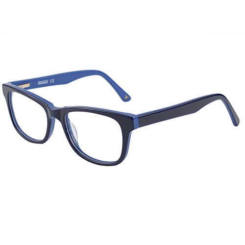 Blue Light Shield Computer Reading/Gaming Glasses for Kids- 0.0 Magnification - Anti Blue Light UV Protection Low Color Distortion, Classic Black and Blue Frame - Essential Gaming Gear ()