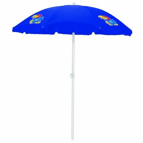 NCAA Kansas Jayhawks Portable Sunshade Umbrella by Picnic Time by PICNIC TIME