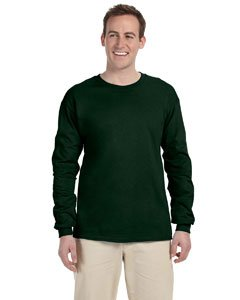 Fruit oftheLoom Heavy Long Sleeve T-Shirt - Forest Green 4930 XL