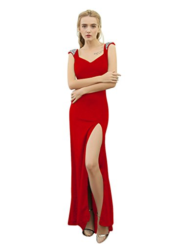 Vimans -  Vestito  - linea ad a - Donna Red 46