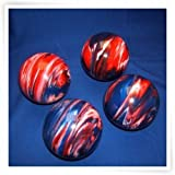 Premium Quality EPCO 4 Ball 107mm Tournament Bocce Set - Marbled Red/White/Blue [Toy]