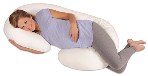 Leachco Snoogle Total Body Pillow, Ivory (Sleep Maternity Pillow)