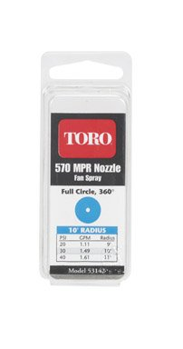 Cd/2 x 7: 570 Series Replacement Fixed Spray Nozzle Toro 53142 021038531427