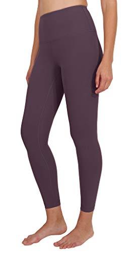 90 Degree By Reflex High Waist Power Flex Legging - Tummy Control - Dusky Orchid Ankle - Large