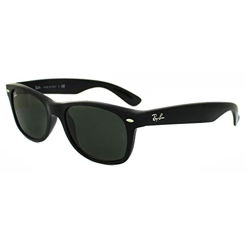 Lens Polarized ban Frame Sunglasses Rb2132 New Black Ray Solid Unisex Wayfarer Shiny P1TwzWpqn