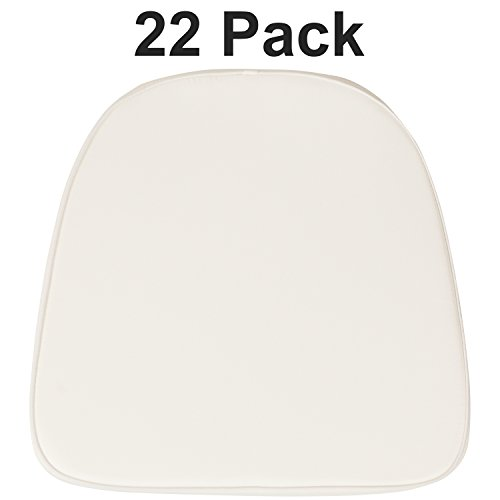 (Flash Furniture 22 Pk. Soft Ivory Fabric Chiavari Chair Cushion)