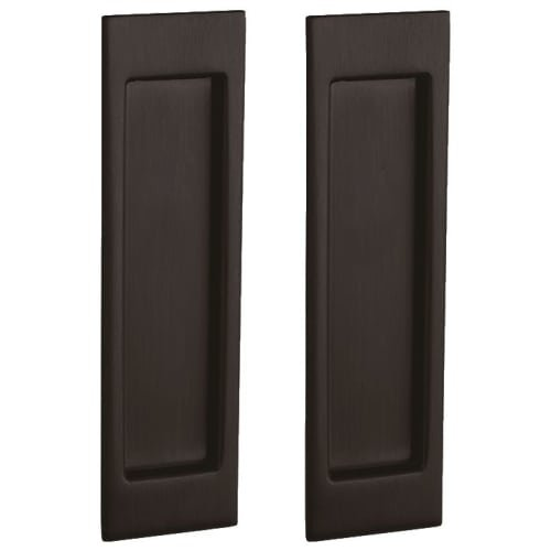 Baldwin PD005.PS Santa Monica Style Pocket Door Passage Trim Pair from the Estat, Venetian Bronze