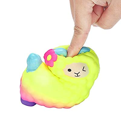 Squishes Toys , Elevin(TM)???????? Kawaii Squeeze Squishy Slow Rising Jumbo Giant Scented Cartoon Cute Animal Fox Stress Reliever Toy (Orange): Toys & Games