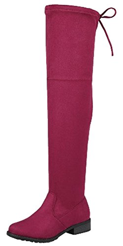 Women's Knee Flat The Link Thigh Forever High Over Wine Boot 5IAwUvnq