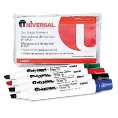 UNV43650 - Universal Dry Erase Markers