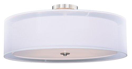 "Vhomes Light Nuage 30"" Semi-Flush Ceiling Satin Nickel"