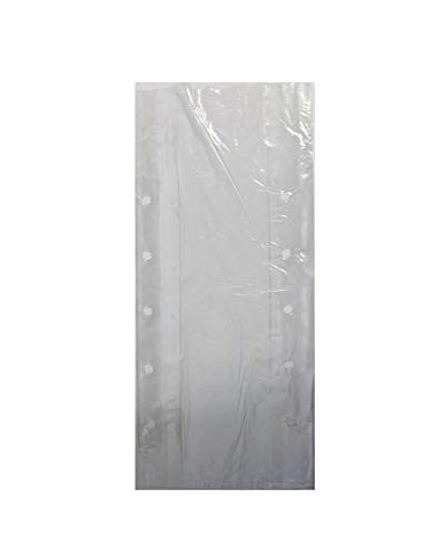 Clear Vented Gusseted Plastic Food Bag 8x4x18