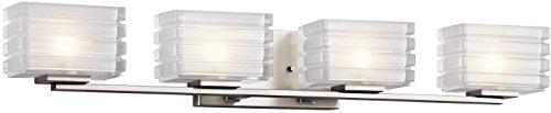 - Kichler 45480NI Bazely Bath 4-Light Halogen, Brushed Nickel