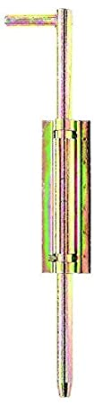 galvanisch gelb verzinkt GAH-Alberts 410216 Bodenschieber zum Anschwei/ßen 400 mm