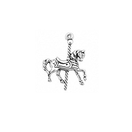 Sterling Silver 3D Carousel Horse Charm Item #1088