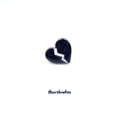 Lonely groceries original design blue pin Broken Heart Brooch Generic