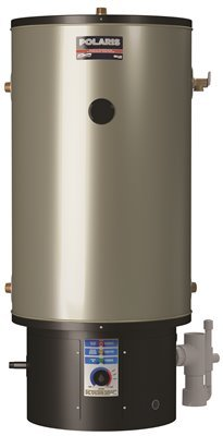 AMERICAN WATER HEATER GIDDS-479415 American Polaris High-Efficiency Natural Gas Water Heater, 34 gallons, 100,000 Btu, Side T & P Relief Valve