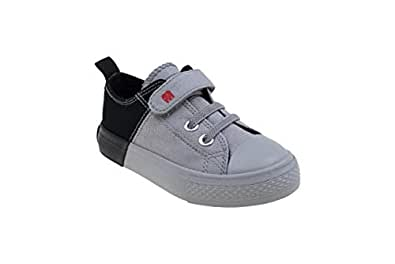 elefanten Sneakers - Urban Fashion with Combination of Two Colors for A Cool Sporty Design, Extra Soft Padded Textile Insole, Protection & Comfort - for Everyday Activities - Size 5.5 AU - Black/Grey