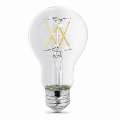 Feit Electric 40ワット相当 A19 調光機能付きフィラメント CEC LED エネルギースター 90+ CRI クリアガラス電球 ソフトホワイト (2個) B07FF6XY1X
