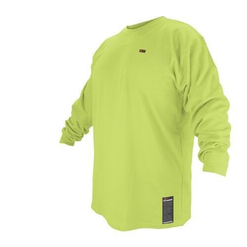 Black Stallion FR Cotton T-Shirt - Lime Green Long Sleeve FTL6-LIM - LARGE