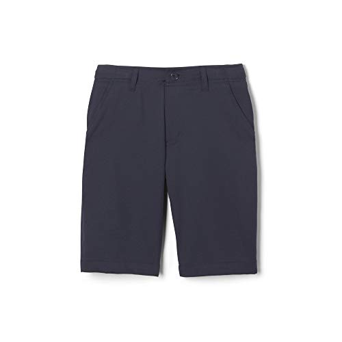 - French Toast Boys' Little Flat Front Performance Stretch Short, Navy 5