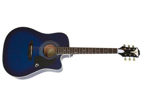 (Epiphone 6 String PRO-1 ULTRA Acoustic/Electric Trans Blue)
