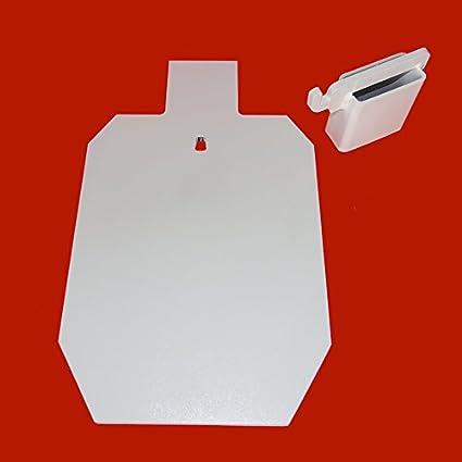 "1//2/"" AR500 IPSC 8/"" x 12"" Steel Shooting Target w// AR500 3//8/"" T-Post Hook"