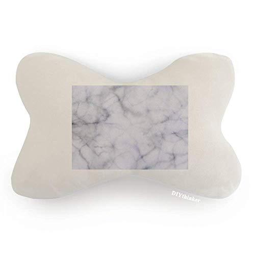 DIYthinker White Miscellaneous Illustration Pattern Car Neck Pillow Headrest Support Cushion Pad