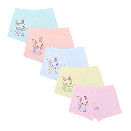Baby Girls' Rabbit Panties Bunny Boy Short Animals Colorful Hipster ()