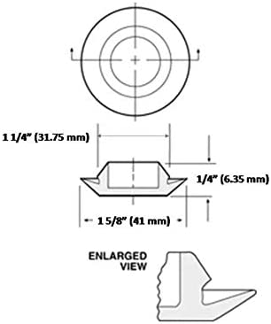 Sheet Metal Fit Fender 20 Vital All-Terrain 1-1//4 Inch Plastic Snap-in Flush Mount Hole Plug