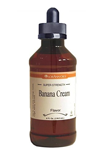 (Banana Cream Hard Candy Flavoring, by LorAnn Oils, 4 oz with Glass Dropper Bundle)