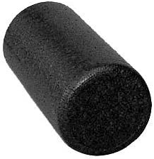 Isokinetics Inc. Black High Density Foam Rollers - Extra Firm - for Exercise and Therapy - 6 , 12 , 18 36 Lengths, Round Half Round