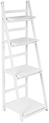 Hartleys Estantería Plegable de 4 baldas Tipo Escalera Blanca: Amazon.es: Hogar