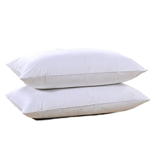 Set of 2 Hotel Style Double Down Surround Pillows - As Seen in Many 5 Star Hotels and Resorts. (Queen) by Continental Bedding