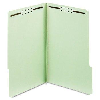 Adams Folders, Two Inch Expansion, Two Fasteners, 1/3 Cut Tab, Legal, Green, 25/Box