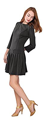 Marycrafts Women's Drop Waist 1920s Vintage Dress Retro Flapper