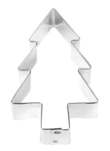 Fox Run 3308 Christmas Tree Cookie Cutter, 3-Inch, Stainless Steel