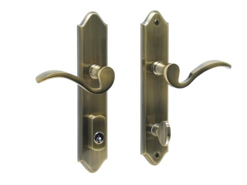 - Imperial by FPL- Solid Brass Active Trim Only Lever Set for Multipoint Lock, Schlage Keyway, Antique Brass