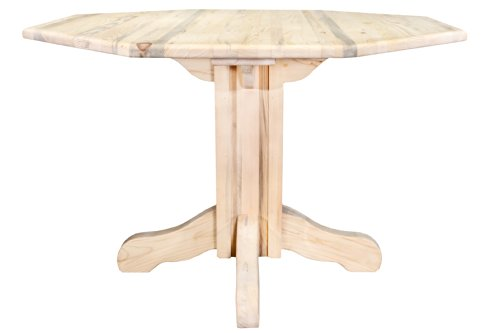 mestead Collection Center Pedestal Table with Round Table Top, Ready to Finish ()