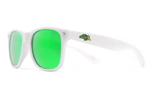 NCAA North Dakota  State Bison NDSU-5 White Frame, Green Lens Sunglasses, One Size, - Sunglasses Dakota