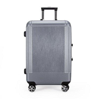 軽量スーツケース プルロッドボックスアルミフレームメタルプルロッドボックスおしゃれなアルミフレーム搭乗旅行者航空機ホイールプルロッドボックス 旅行スーツケース (サイズ : 24) B07RBTYLKB  24