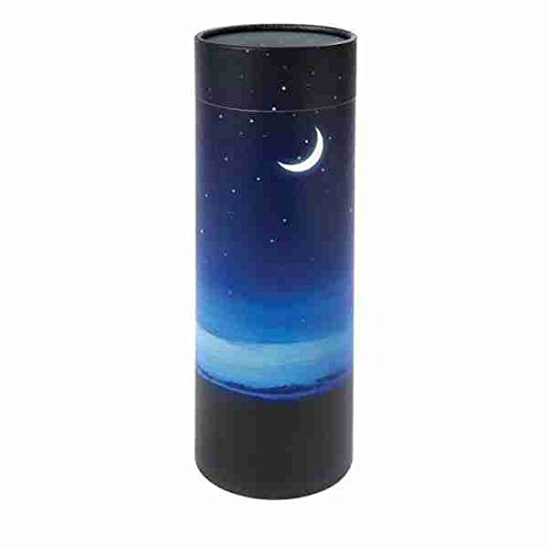Scatter Tube Cremation Urn Deal Adult Size 14 inch Tall Biodegradable Cremation Urn to Scatter Ashes Affordable Urn for Ashes Memorials4u Peaceful-Night Scattering Tube Eco friendly Urn