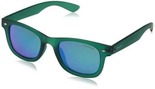 Polaroid Sunglasses PLD8009N Polarized Wayfarer Sunglasses, Transparent Dark Green/Green Mirror Polarized, 45 - Polaroid Polarized Sunglasses