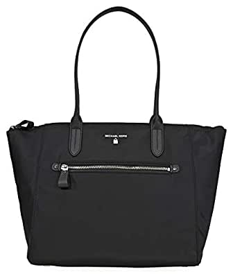 Michael Kors Kelsey Large Nylon Tote- Black